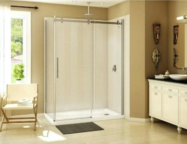 A Home Depot And Tile Walls Shower Pan Bathroom Bathroomideas