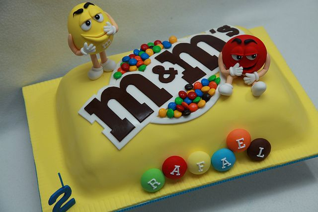 M&M cake - For all your cake decorating supplies, please visit craftcompany.co.uk