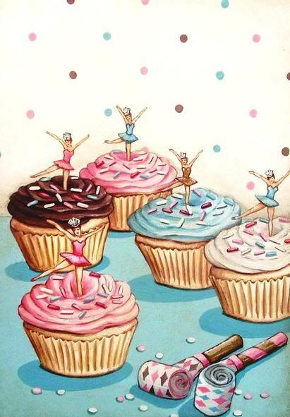 *My mom used to always decorate my birthday cakes with little ballerinas like this. illustrated #everydayisaholiday