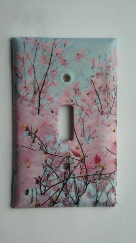 Cherry Blossoms Fun Decorative Light Switch Cover By Nikalette
