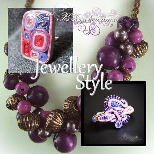 Jewellery Fashion | kolczykomania  Stylizacja biżuteryjna: Jagódko, Jagódko ...  bransoletka : http://kolczykomania.com/produkt/bransoletka-w-odcieniach-fioletu-sutasz... naszyjnik : http://kolczykomania.com/produkt/koralewinne-grona pierścionek : http://kolczykomania.com/produkt/artystyczny-pierscionek-wykonany-techni...  Stylistka: Pracownia angeluS