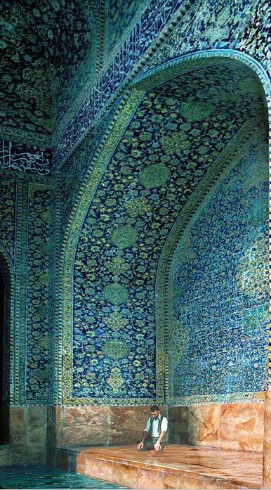 blue & inexperienced moorish mosaics… #indigoinspiration