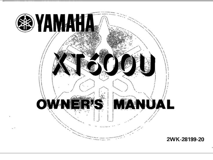 Yamaha XT1600 U 1988 Owner's Manual has been published on