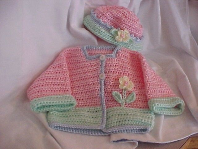 1000 Images About Crochet Baby Frocks And Sweaters On