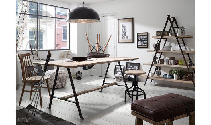Mesa de comedor vintage naim material madera de mango - Decoracion industrial online ...