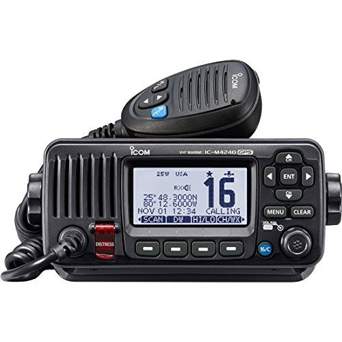 ICOM ICM424G 21 Compact Marine VHF Radio with Hailer in Black *** To view further for this item, visit the image link. This is an Amazon Affiliate links.