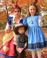 Alice in Wonderland Homemade Kids Costumes