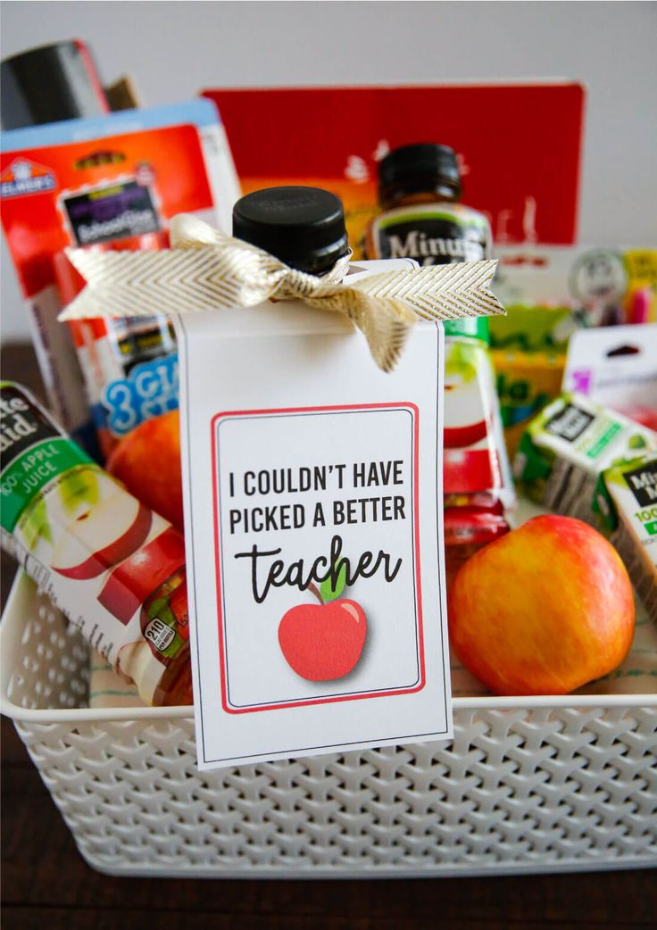 Make a care package for your teacher for back to school with these cute teacher tags! Free printable from www.thirtyhandmadedays.com #sponsored