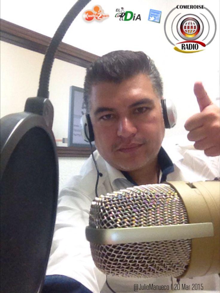 """#K2 Grabando el 1er Programa de Radio de #Klasifica2 Julio Mañueco CEO DE @Klasifica2 con Jacky Morgado del Diario de """"La Palabra de México"""" celebrando el 53 Aniversario del Periódico @ElDiaMexico y Alianza estratégica convirtiendo en el portal de anuncios clasificados oficial del Periódico El Día http://www.klasifica2.com y ahora estrenando nueva estación de radio y Tv comandada por Mañueco http://www.periodicoeldiaradiotv.mx"""