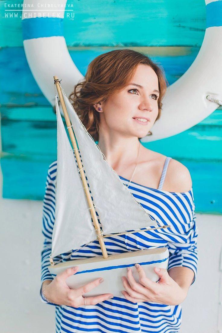 Sea, girl, photo session, photo, blue, look, photostudio