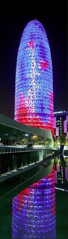 Agbar tower, 145m, 2005, Barcelona, Spain