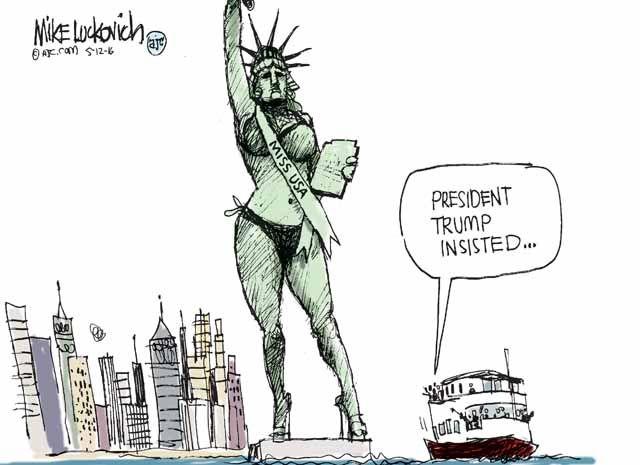 Risultati immagini per statue of liberty crying trump