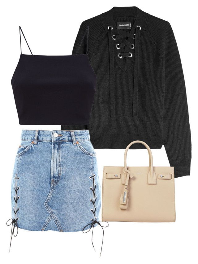 """""""Untitled #156"""" by anayamack on Polyvore featuring Zadig & Voltaire, Topshop and Yves Saint Laurent"""