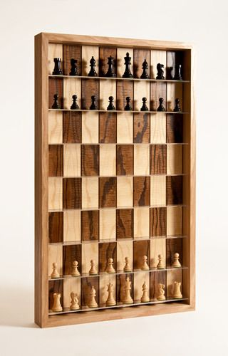 Vertical Chess Board - Side View