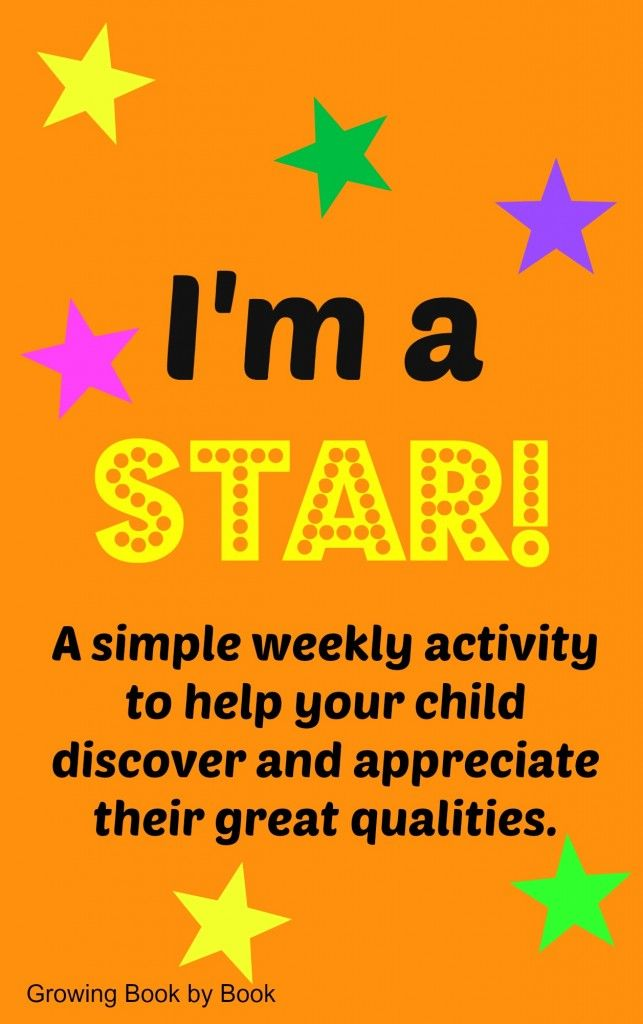 An easy weekly reading/writing activity to help kids discover their star qualities to compliment the book, Star of the Week.  Part of the Poppins Book Nook from growingbookbybook.com