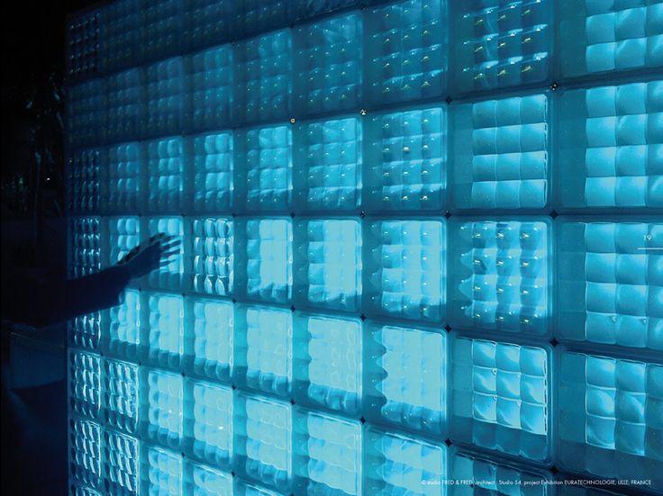 23 best Brique de verre images on Pinterest | Bricks, Room dividers ...