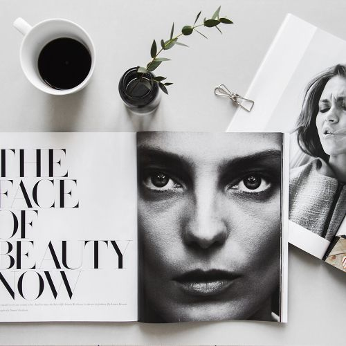 the perfect morning, magazines and coffee