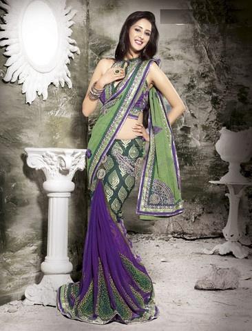 Georgette Designer Saree : Princess Collection - - YF-4586