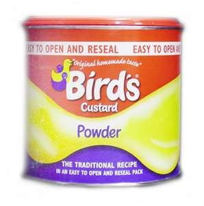 Bird's Custard Powder.  It's so good that sometimes I wish I could bathe in it!  chw