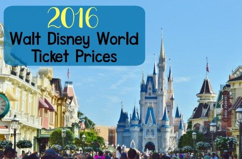 2016 Walt Disney World Ticket Prices. Disney now has a tiered pricing chart for 1 day tickets that is based on the time of year you visit the park.