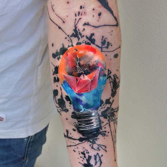 Ondrej Konupcik's Unique Tattoo Style Imitates Watercolor Brush Strokes That Come Alive On Your Skin