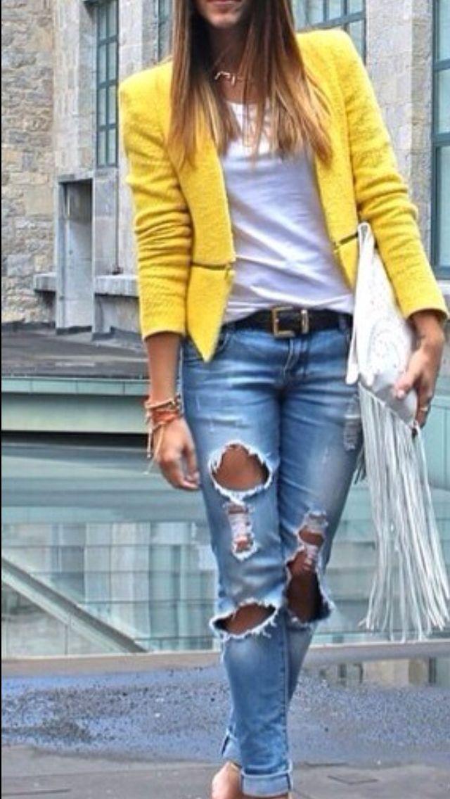 Chaqueta amarilla - yellow blazer  e8a02ea49a28