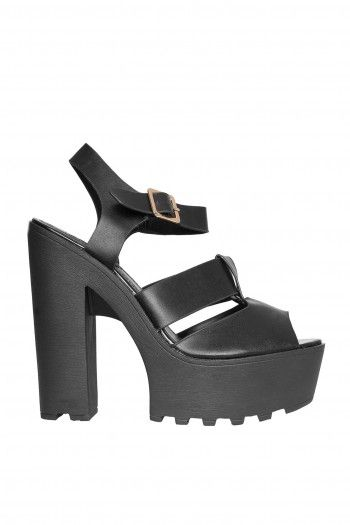 Heather Heeled Sandals black