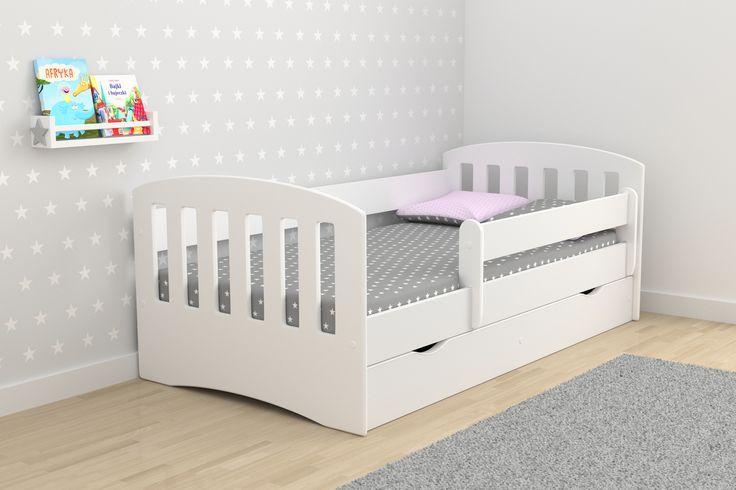 Detská posteľ Clasic v krásne a univerzálny bielej farbe je vhodná pre chlapcov aj dievčatá, je prak Detská posteľ je dôležitou súčasťou každej izbičky. Na nej deti 6066...