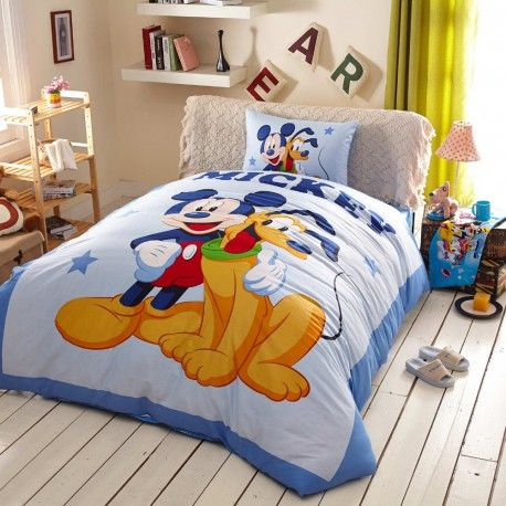 preiswert g nstig kinderbett 3d bettw sche disney mickey. Black Bedroom Furniture Sets. Home Design Ideas