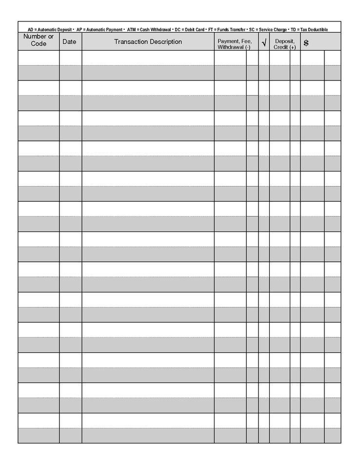bank register template excel