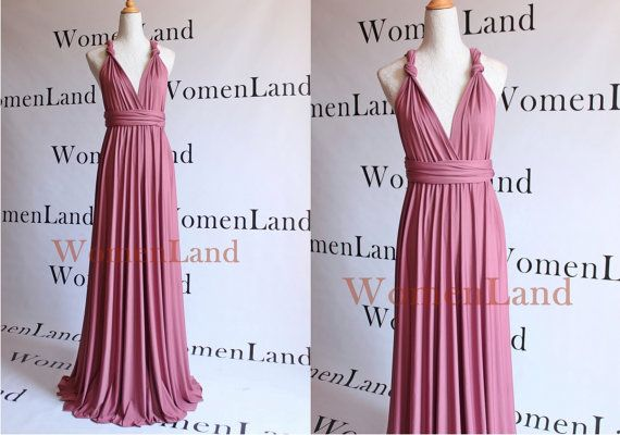 Introducing new fabric color ~ Dark Dusty Pink for infinity dresses.  Infinity convertible dress is one of the best dresses allows ones to show off