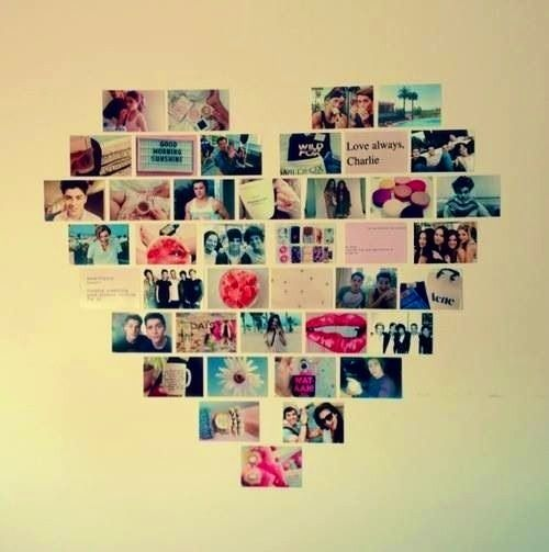 DIY Room Decor DIY Projects Pinterest Heart Pictures Picture Collag