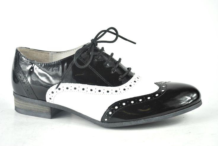 Elena Shoes Made In Italy - Spring Summer Collection - Collezione Primavera Estate - Scarpa con lacci - Laces Shoes - Black and white - Bianco e nero - Fashion - Glamour - SS14 - PE14