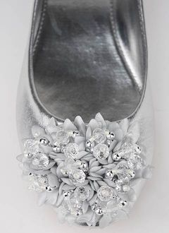 cute silver flats - $20 (bridesmaid shoes.) for all the dancing after the ceremony
