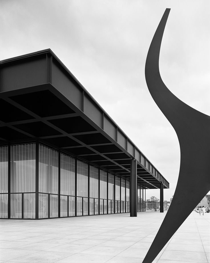 Modern interpretation fo the classical temple. The Neue Nationalgalerie by Ludwig Mies van der Rohe.