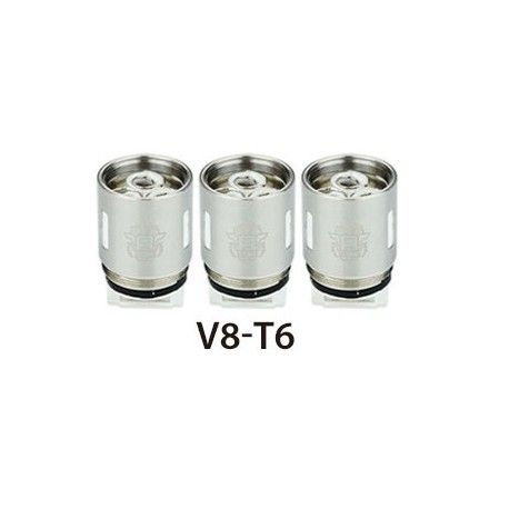 0.2 Ω V8-T6 Sextuple Coil (6.0T) - rated for 50W - 240W, recommended 110W - 150W