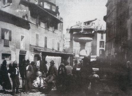 "Ettore Roesler Franz: ""Piazza Montanara"" c.a. 1880."