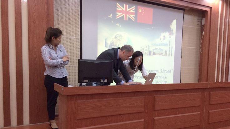 .TU DCA Associate Dean International - Warren Harrison preparing his talk to Guangxi University students Teesside University #chinadiaries