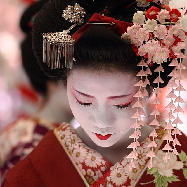 Maiko (apprentice geisha). Photo by: Michael Chandler