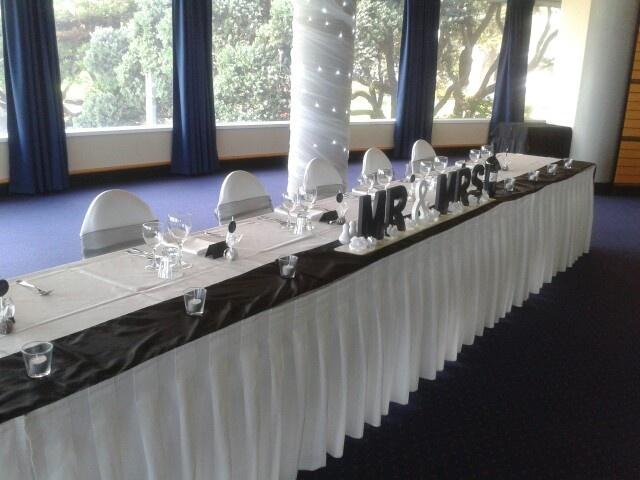 Bridal table at Napier's War Memorial Conference Centre