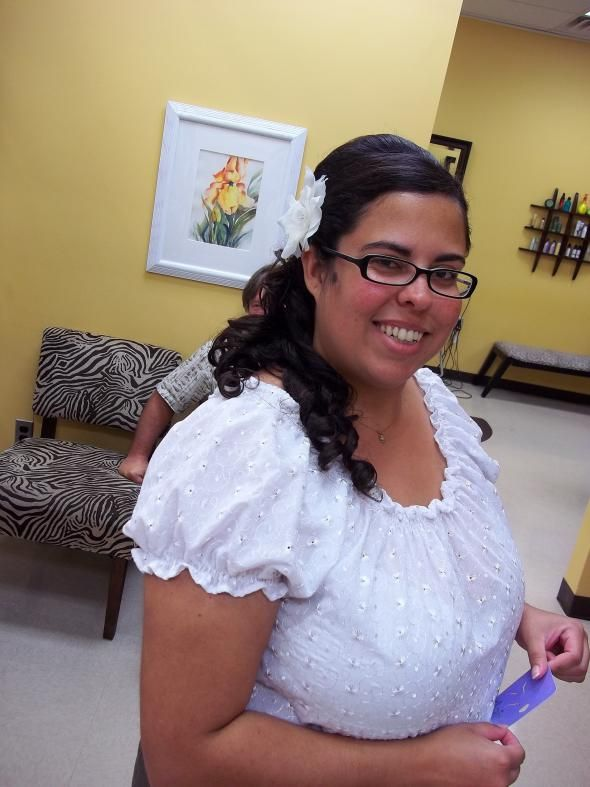 Wedding day hair :  wedding ceremony hair
