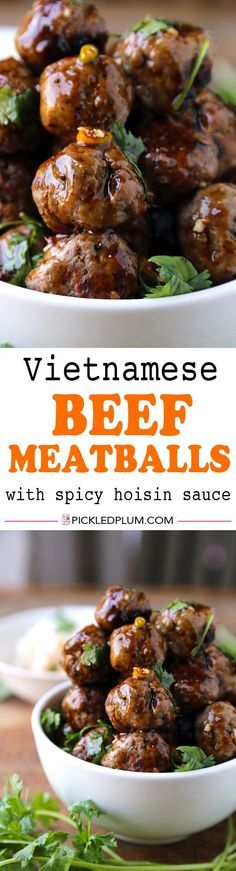 Vietnamese Beef Meatballs - One of my favorite recipes and SO easy to ...