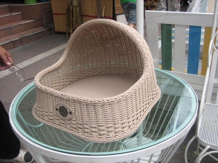 WICKER PET BED BASKET DOG BED WICKER CAT BASKET CAT BED SYNTHETIC RATTAN