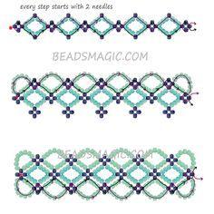 Free pattern for bracelet Santorini
