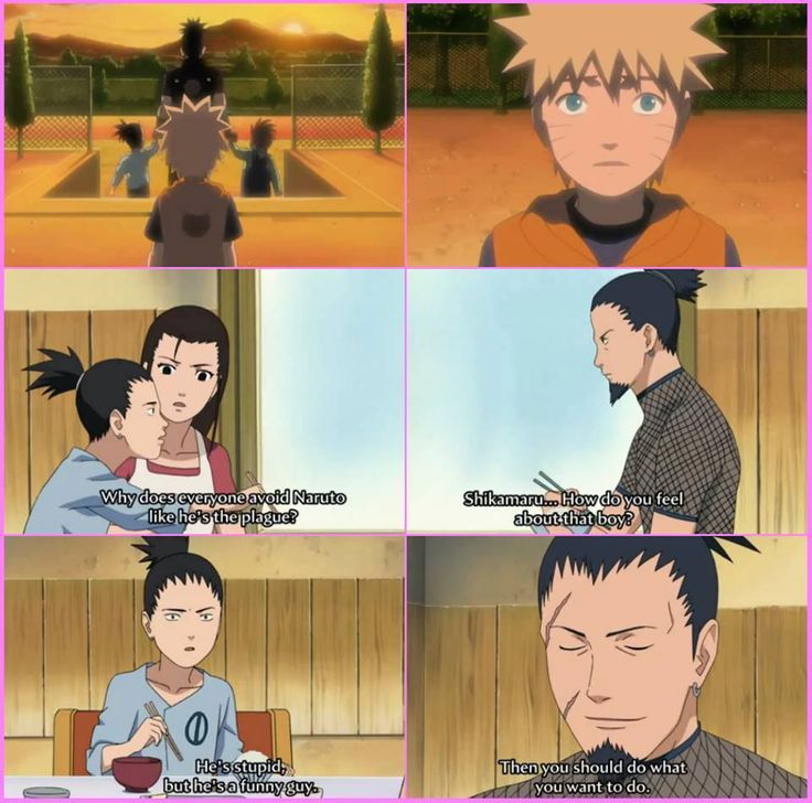 Can we take a moment to APPRECIATE shikamaru's parents on this?? They let their son be best friends with the nine tails and supported their friendship. Done.