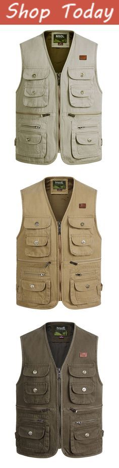 Fishing Cotton Multi Pockets Vest /Waistcoats #outdoor #outfits #men