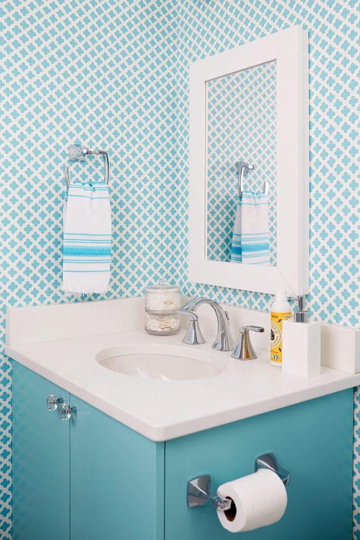 277 best wallpapered bathroom images on pinterest | bathroom ideas