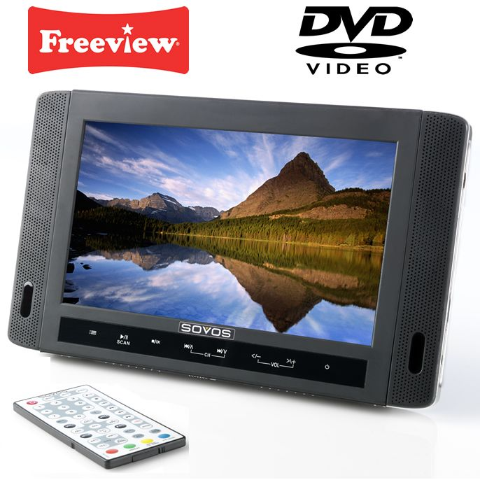 """Portable Tv With Freeview And Dvd Portable Toddler Travel Bed Portable Public Urinal Portable Satellite Tv Near Me: Details About SOVOS 10"""" PORTABLE DIGITAL FREEVIEW TV DVD"""