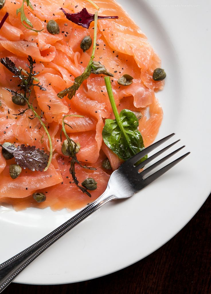 A plate of Whisk(e)y cured salmon