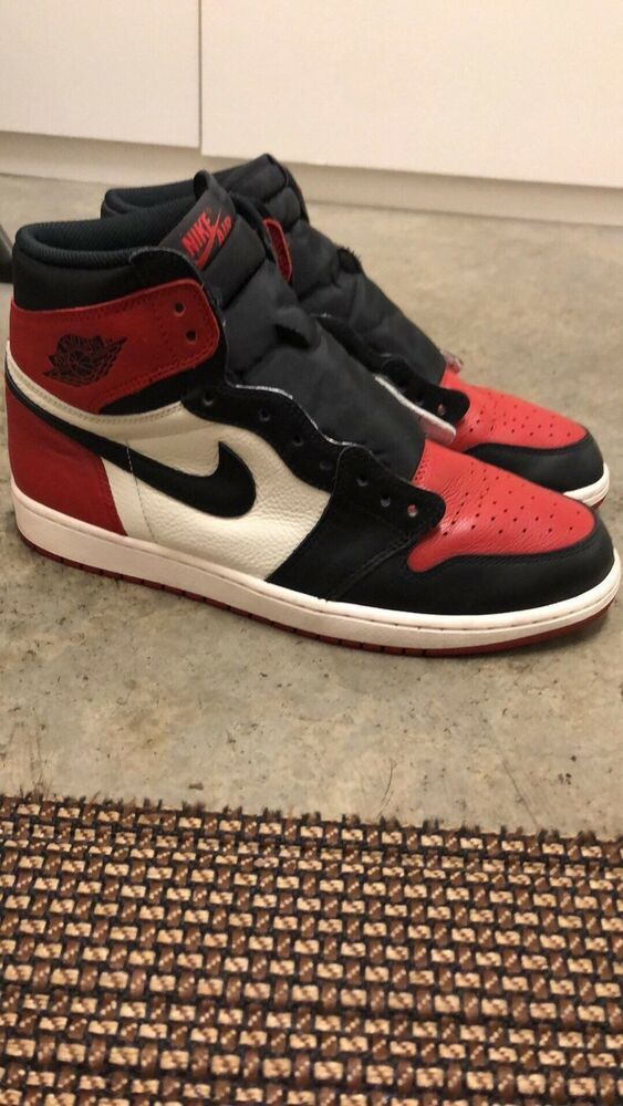low priced 3391f d5186 Bred Toe Jordan 1 Off White Nike  fashion  clothing  shoes  accessories